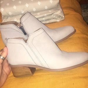 Franco Sarto Leather Booties NEW